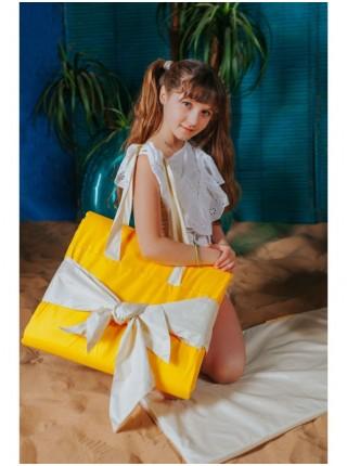 Пляжная сумка - матрас для девочек,цвет желтый
