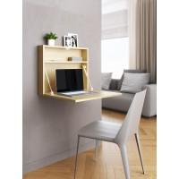 """Настенный откидной стол для ноутбука """"HOLIDAYS"""" квадратный (цвет дуб)"""