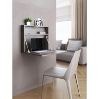 """Настенный откидной стол для ноутбука """"HOLIDAYS"""" квадратный (цвет венге)"""