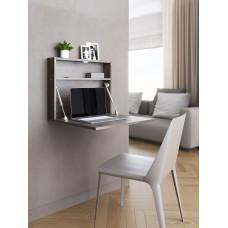 """Настенный откидной стол для ноутбука """"HOLIDAYS"""" квадратный,цвет венге"""