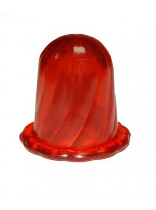 """Банки массажные вакуумные """"Тюльпан"""" для чувствительной кожи (комплект 2 шт.), цвет красный"""