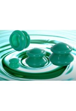 Банки для вакуумного массажа из силикона (4 шт/уп)