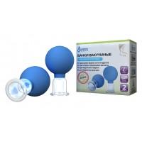 Банки вакуумные  терапевтические полимерные - стеклянные БВ-01-АП-2 (2 шт.)