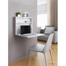 """Настенный откидной стол для ноутбука """"HOLIDAYS"""" квадратный (цвет серый)"""