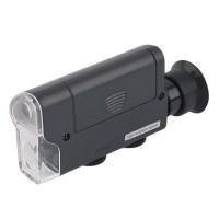 Микроскоп 60-100х мини с подсветкой и ультрафиолетом для телефонов Kromatech 7751W