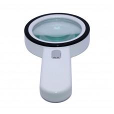 Лупа ручная круглая 30x-105 мм для чтения с подсветкой (12 LED) Kromatech MG-30-105