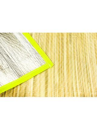 Пляжный коврик - сумочка, соломенный  150х170 см с фольгой