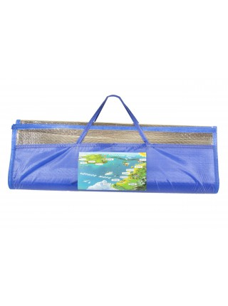 Пляжный коврик - сумочка. соломенный  180х170 см с фольгой