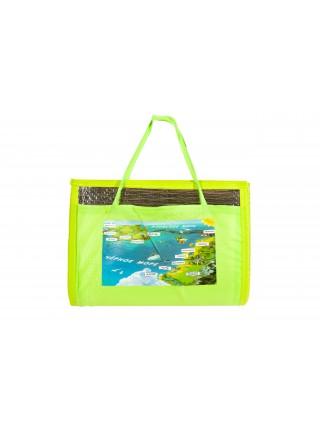 Пляжный коврик - сумочка, соломенный 90х170 см с фольгой