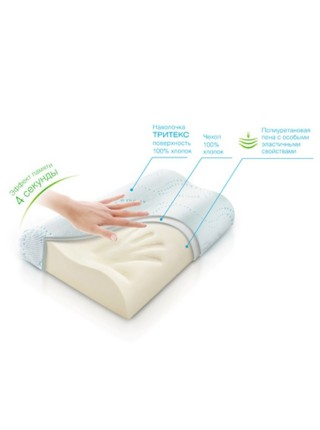 Ортопедическая подушка с 'эффектом памяти' Respecta`