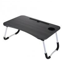 Складной стол для ноутбука TV-804 (цвет серо-коричневый)