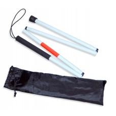 Тактильная белая трость, складная 4 секции (90 см)