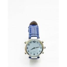 Часы женские наручные говорящие, модель HV-AF (синий цвет)