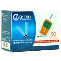 Тест-полоски для глюкометра «Клевер Чек» универсальные №50