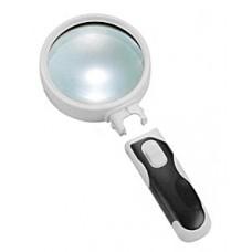 Лупа ручная круглая 16х-37мм  с подсветкой