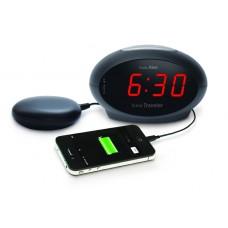 Портативные электронные часы-будильник с выходом типа USB Sonic Traveler Black VDE SBT600SS-VDE.