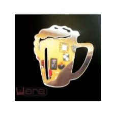 Зеркальный магнит Кружка пива, 8х8 см