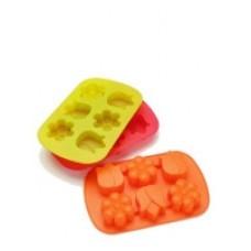 Силиконовая форма для выпекания Печенье, 24,5 х 15,2 х 2,8 см Разнообразие