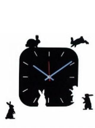 Часы 'Поляна зайцев', cl1104, 28х34 см
