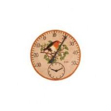 Часы садовые с термометром Снегирь, Solus Adorn