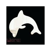 Зеркальный магнит Дельфин, 9 х 8 см
