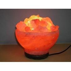 Солевой светильник 'Ваза с камнями' (4-7 кг)