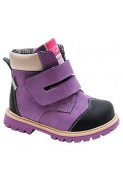 Ботинки ортопедические утепленные, цвет фиолетовый