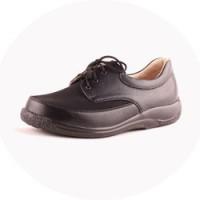 Обувь ортопедическая, закрытая на шнурках (кожа + стрейч)