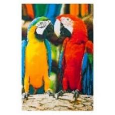 Пляжное полотенце вафельное 'Попугаи'