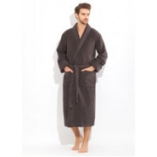 Шикарный махровый халат из микро-коттона BRUTAL(PECHE MONNAIE France 920anthracite) - 'Толстый' и плотный!