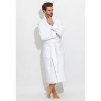 Шикарный махровый халат из микро-коттона BRUTAL(PECHE MONNAIE France 920white) - 'Толстый' и плотный!