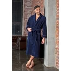 Махровый халат из бамбука Daniel-blue(EFW)
