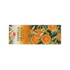 Благовония HEM, шестигранники, Vanilla - Orange (Ваниль - Апельсин), 20 палочек