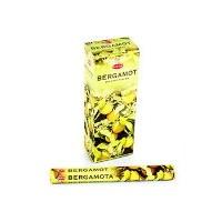 Благовония HEM, шестигранники, Bergamot (Бергамот), 20 палочек