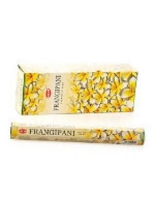 Благовония HEM, шестигранники, Frangipani (Плюмерия), 20 палочек