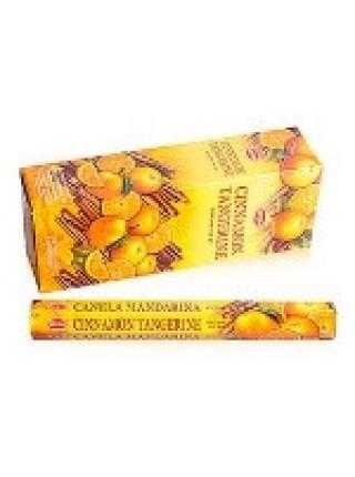 Благовония HEM, шестигранники, Cinnamon Tangerine (Корица Мандарин), 20 палочек