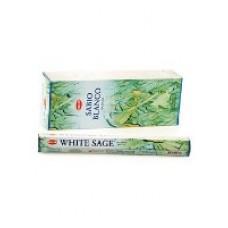 Благовония HEM, шестигранники, White Sage (Белый Шалфей), 20 палочек