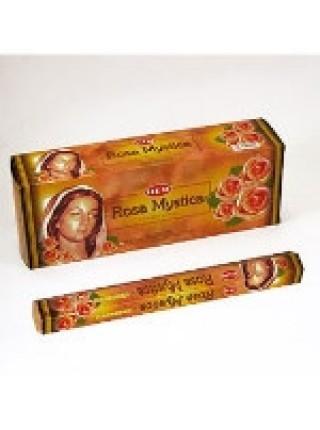 Благовония HEM, шестигранники, Мистическая Роза (Rosa Mystica), 20 палочек