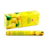 Благовония HEM, шестигранники, Lemon (Лимон), 20 палочек