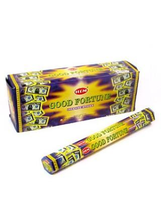 Благовония 'Good Fortune' 'Удача' НЕМ Индия, 20 палочек