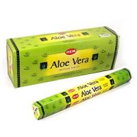 Благовония HEM, шестигранники, Aloe Vera (Алоэ Вера), 20 палочек
