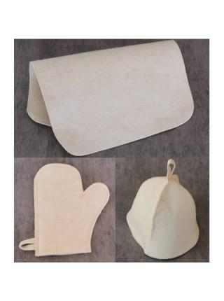 Набор 3 предмета ЭКОНОМ, белый цвет