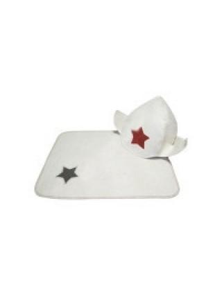 Комплект для бани 'Будёновка' (2 предмета) белый